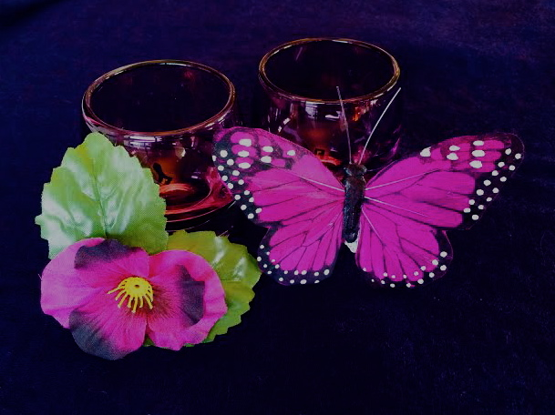Handmade Pansy and Butterfly Accoutrements